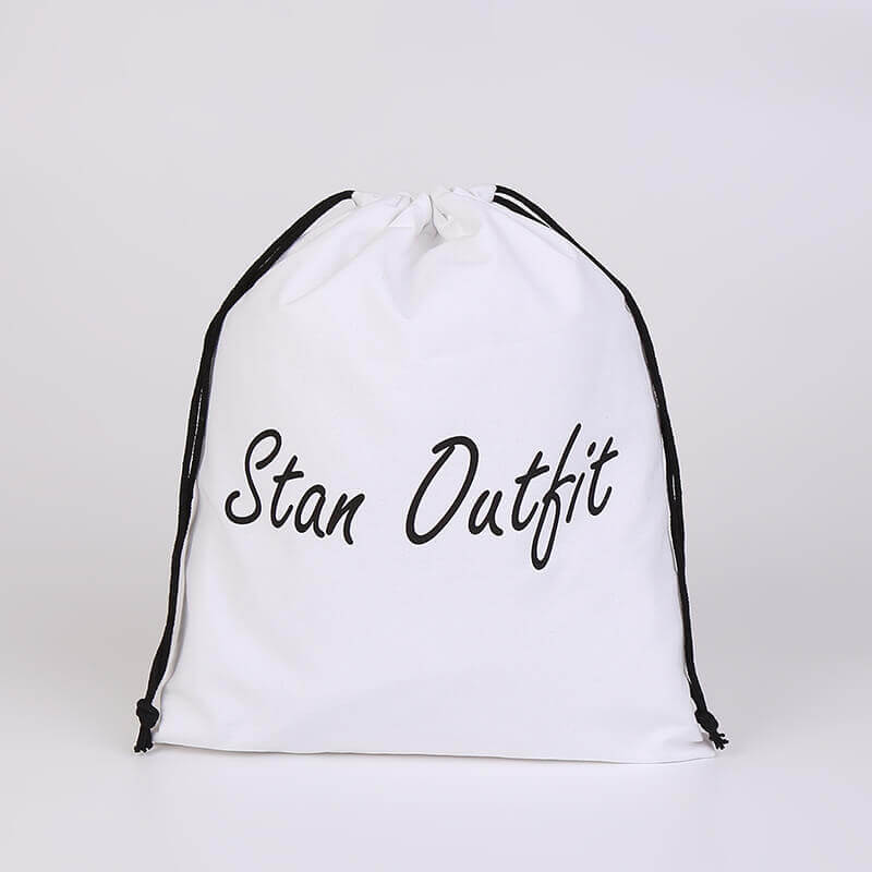 Cotton Drawstring Bag for Stan Outfit