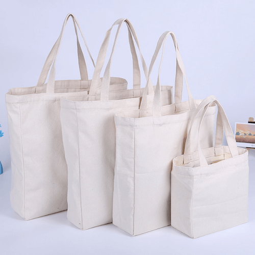 Bottom & side canvas canvas bag