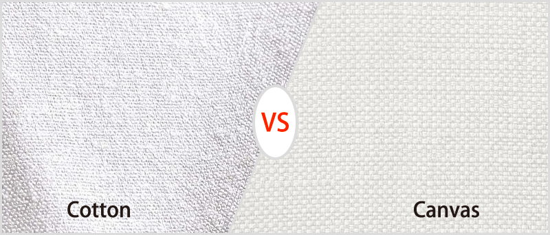 difference between cotton and canvas
